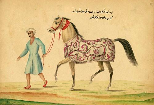 010- Educando a un caballo- Walters manuscrito W.661- fol 72 a-The Art Walters Museum.