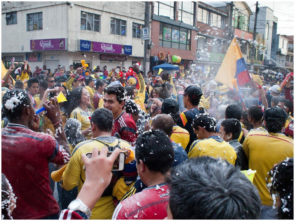 Celebración Colombia vs Uruguay
