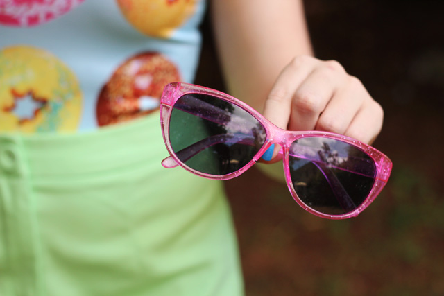 Sparkly Pink Cay Eye Sunglasses