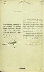042. Horthy Miklós kormányzó meghívása néhai IV. Károly (1927. április 1.) és Ferenc József (1927. november 21.) király elhunyta évfordulójának alkalmából tartandó gyászistentiszteletre