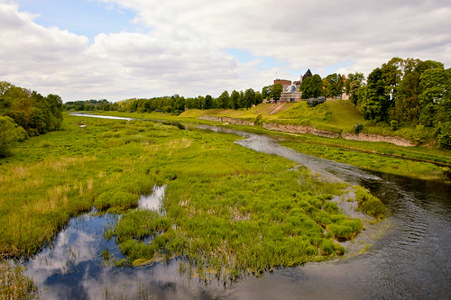 river landscape latvia bauske