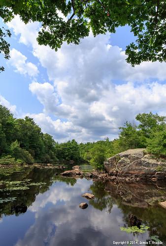 statepark park usa cloud reflection rock landscape massachusetts reservoir lilypad hingham wompatuckstatepark parkpubliclands aaronriverreservoir
