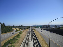 Airport Expressway northbound from S 160th Street