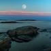 Brenton Point Full Moon - Explore 7.16.14 by yogagi