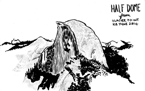 yosemite-half-dome-drawing
