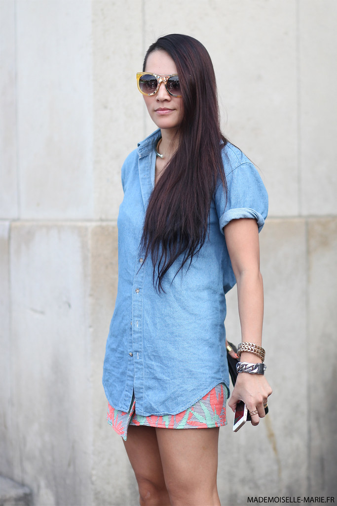 Tina Leung at Paris Fashion Week menswear day 2