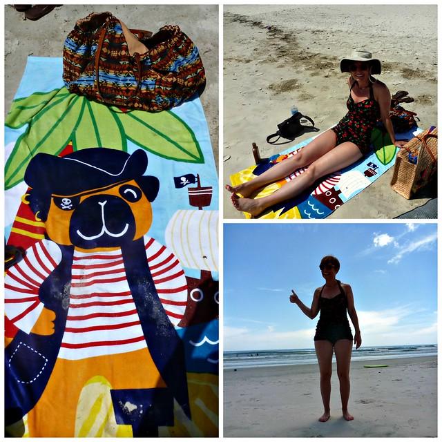 beach collage