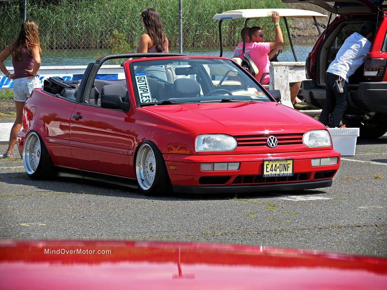 Waterfest 20 Slammed VW Golf Cabrio