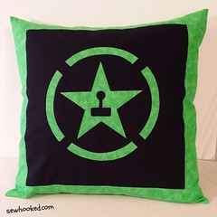 One Achievement Hunter cushion, ready to live in the dorm!