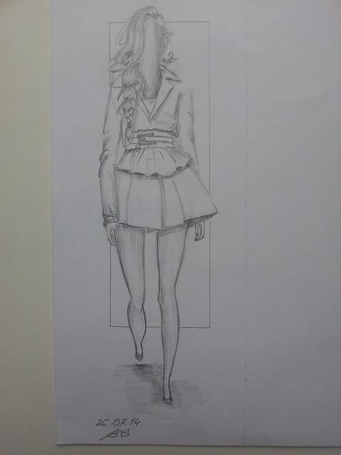 fashion illustration, hair, sketch