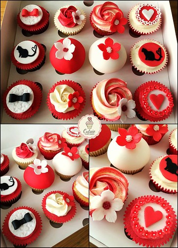 Wedding Consultation Cupcakes in Red & White