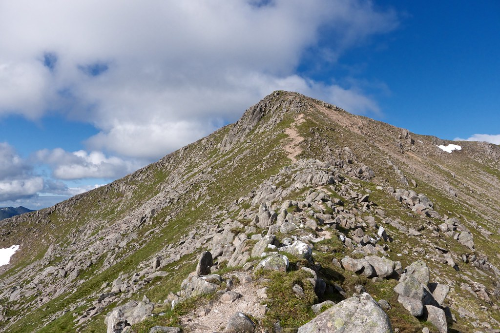 Looking up to the east top of Ben Starav