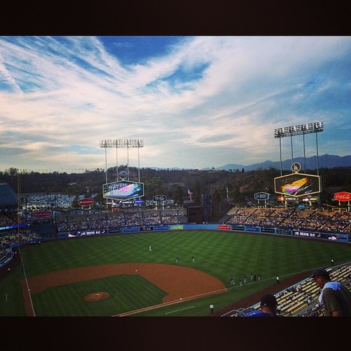 Climbed a literal mountain to get here but I suppose it was worth it. #ladodgers #dodgerstadium #losangeles #mlb #baseball #kategoestocalifornia