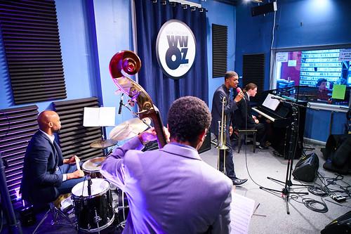 David Harris Quartet at WWOZ. Photo by Eli Mergel