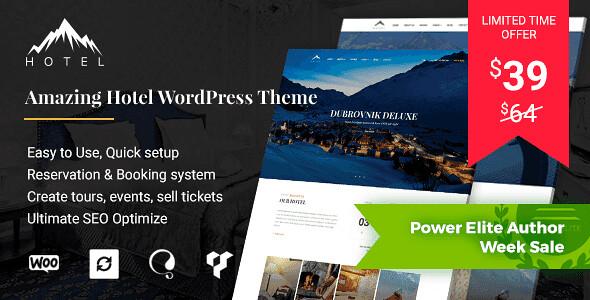 Hotel WordPress Theme free download