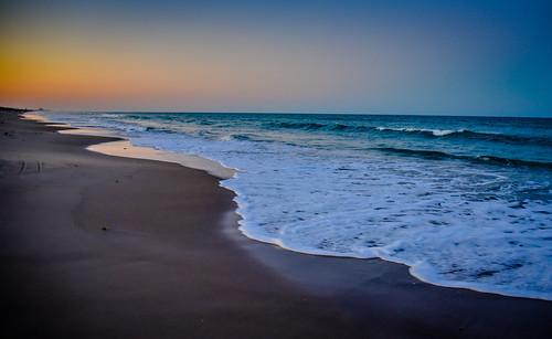 melbournebeach florida unitedstates us sunset beach atlantic ocean melbourne fl usa america fla water shore shoreline coast coastline evening dusk sand surf waves