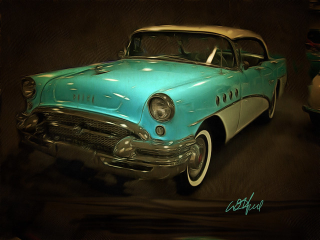 Blue Buick