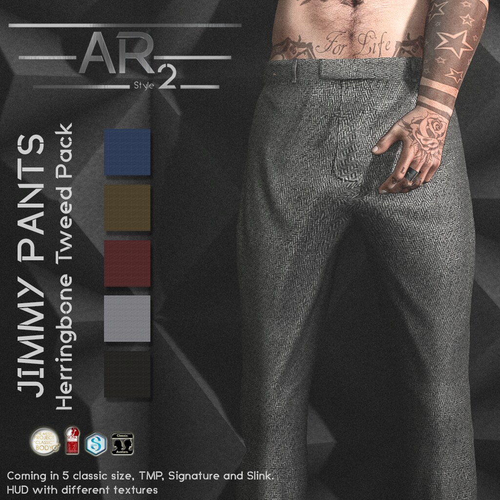 [AR2 Style] Jimmy Pants Herringbone Tweed Pack - SecondLifeHub.com