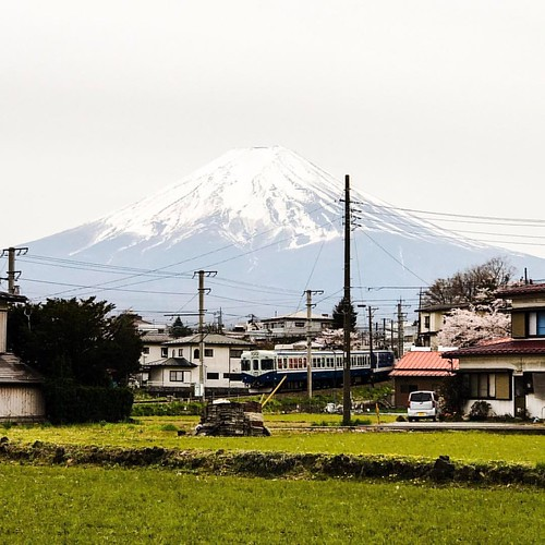 Taking the Fujikyu railway through stunning country side all in the shadow of Mt Fuji. #japan #fujikyurailway #mountfuji #mtfuji #mountain #train