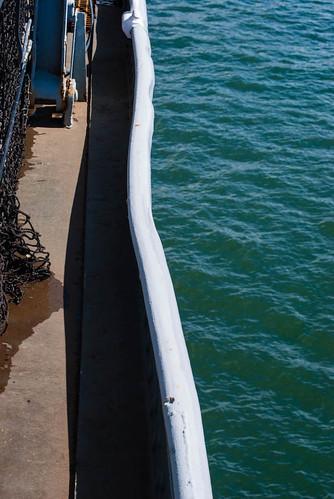 Kamikaze Dent in USS Missouri