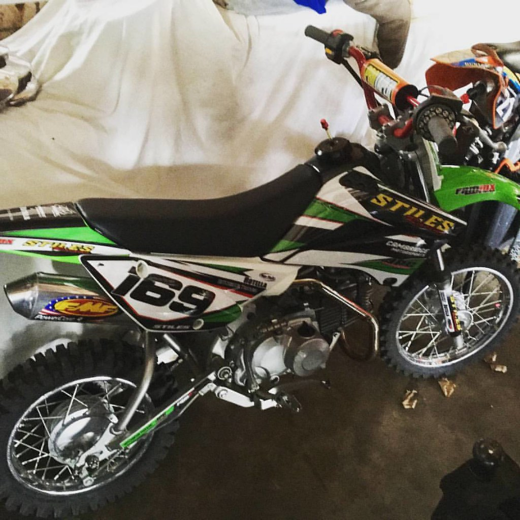 FAMmx Yamaha Blitz Graphics Converted To Fit A 2013 Kawasaki KLX110 Style
