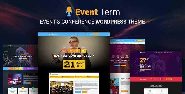 Event Term WordPress Theme free download