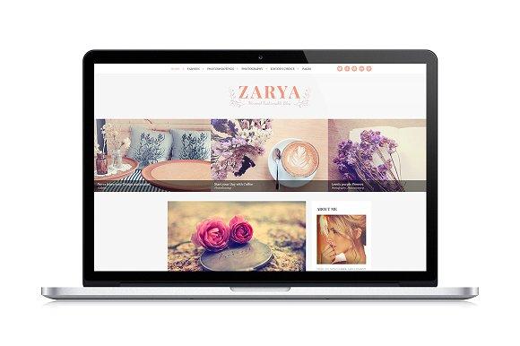 Zarya v1.0 - Personal Wordpress Blog Theme