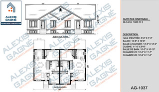 Plan de maison jumelé - MJ.04