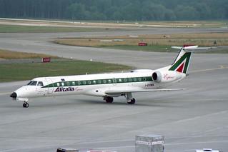 """Alitalia Express Embraer ERJ-145LR (EMB-145LR) I-EXMA """"Giosué Carducci"""""""