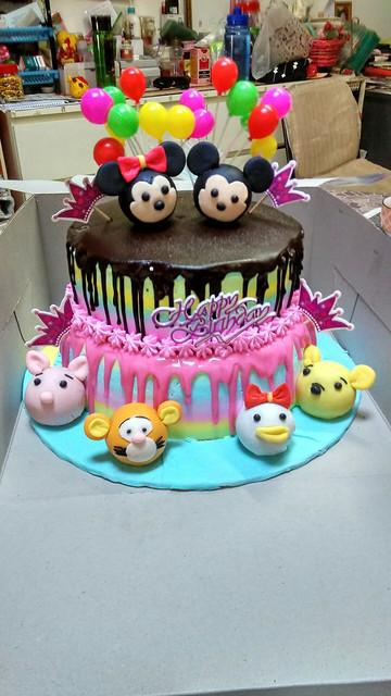Tsum Tsum Birthday Cake by Wong May