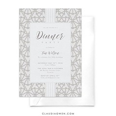 I have an inexplicable attraction to patterns and I think they go really well in party invitations don't you think? #partyinvitations #partyideas #dinnerparty