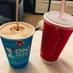 A @wendys #frosty and a @cocacola #fatkidheaven #nogym #eatwhatiwant #andimstilla34waistsize lol