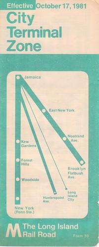 LIRR 1981 City Terminal Zone Cover