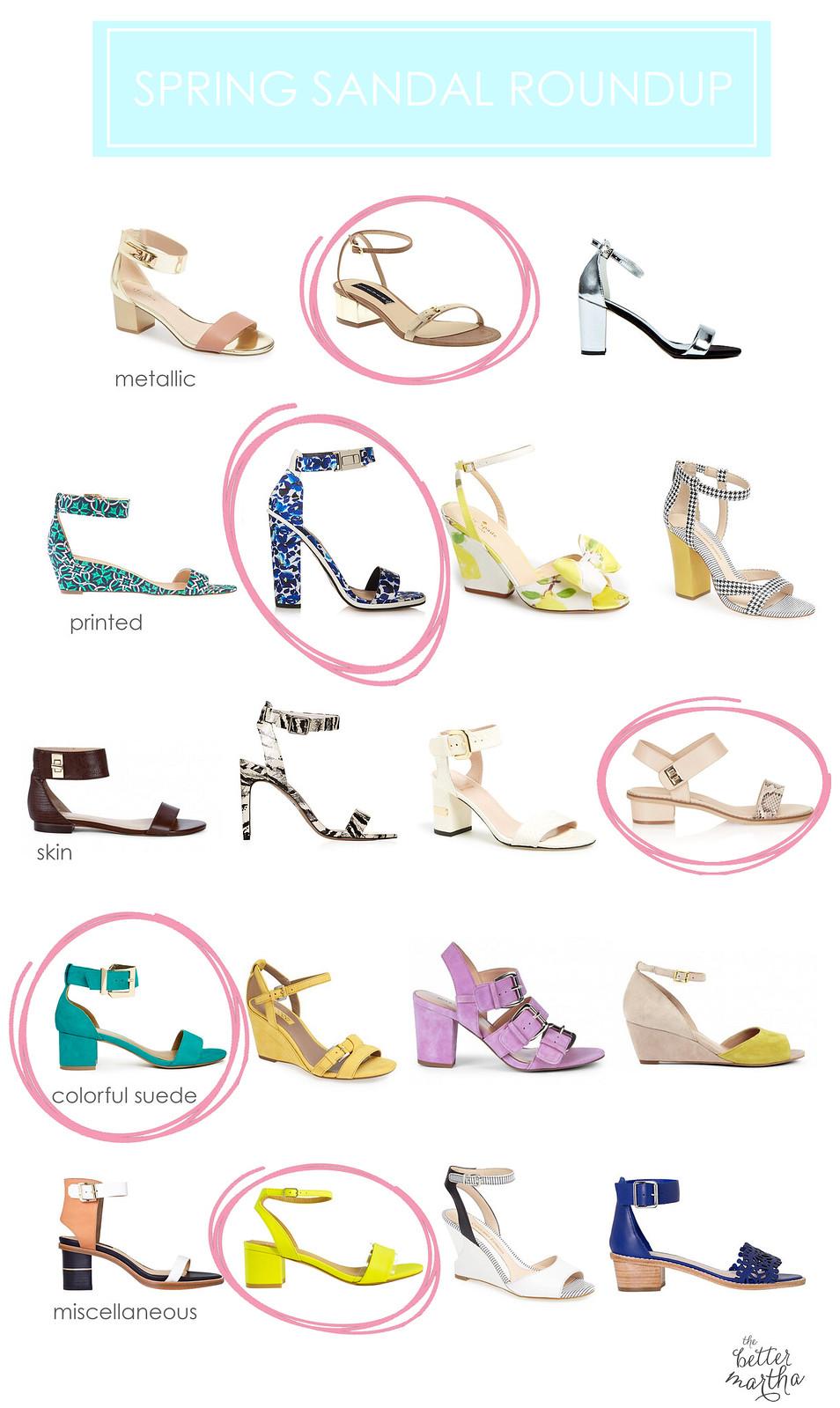 Spring Sandal Roundup