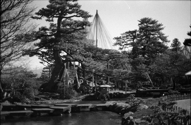 雪吊りと雁行橋 - Hanging snow and Gankoubashi