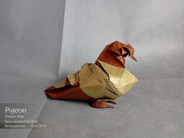Model By Roman Diaz In Sandwich Papier 30x030cm