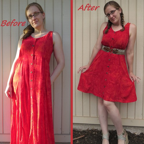 Red Herring Dress - Before & After