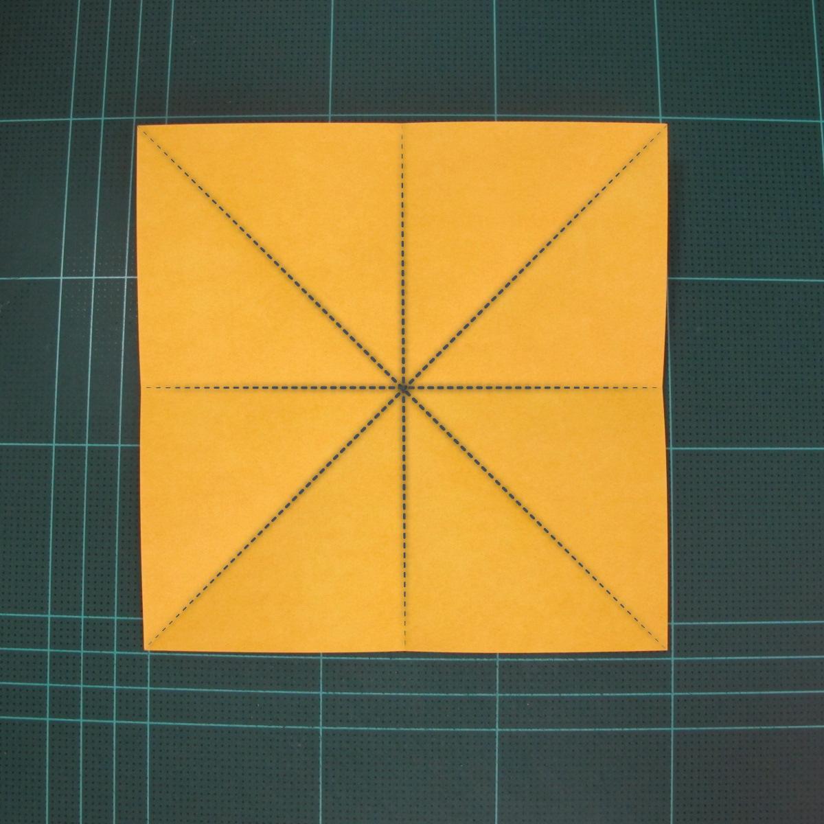 สอนวิธีพับกระดาษเป็นดอกกุหลาบ (แบบฐานกังหัน) (Origami Rose - Evi Binzinger) 002