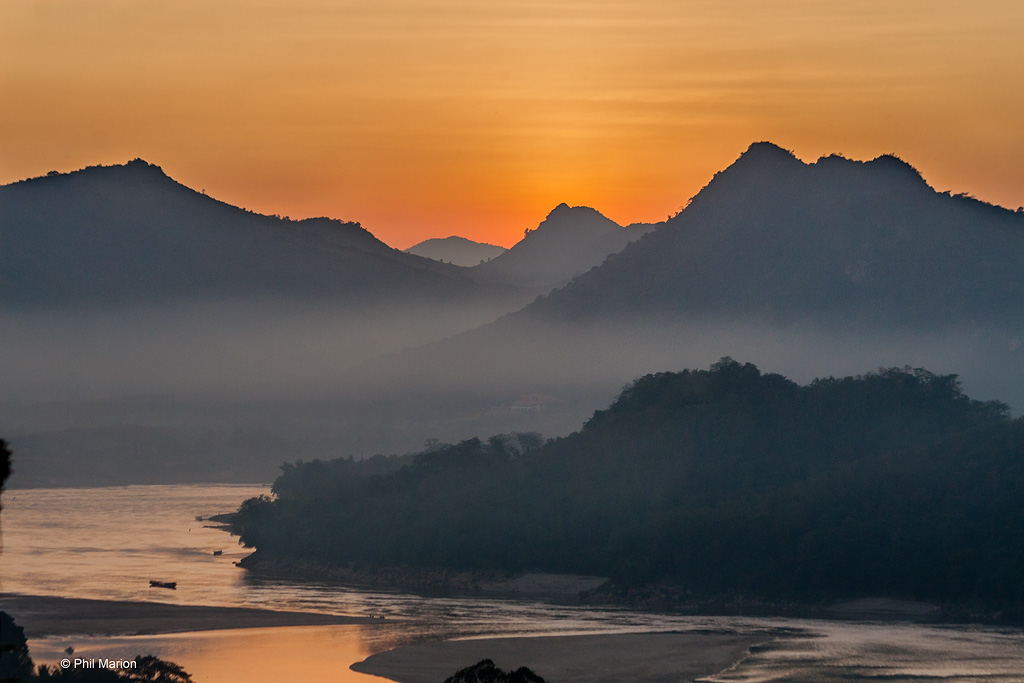 Mekong River sunset - Luang Prabang, Laos