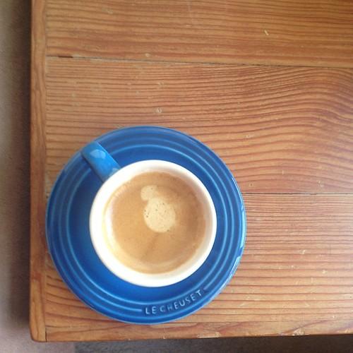 Tiny espresso cup realness.