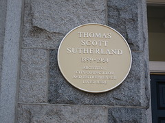 Photo of Thomas Scott Sutherland yellow plaque