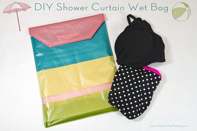 DIY Shower Curtain Wet Bag