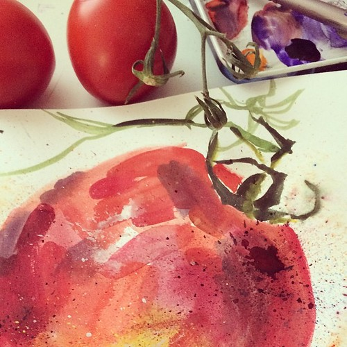 Very hot day - I can eat only tomatoes and cucumbers :) #kitchentable