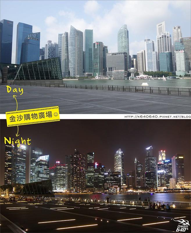 新加坡日夜對照-金沙購物廣場