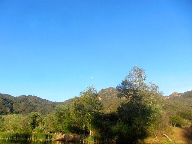 moonset in the santa monicas