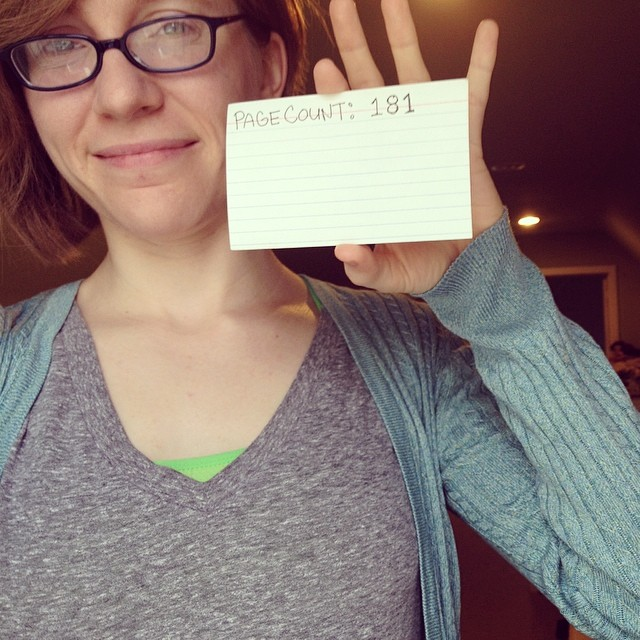 may 19 page count: 181 (had to start a new card!)