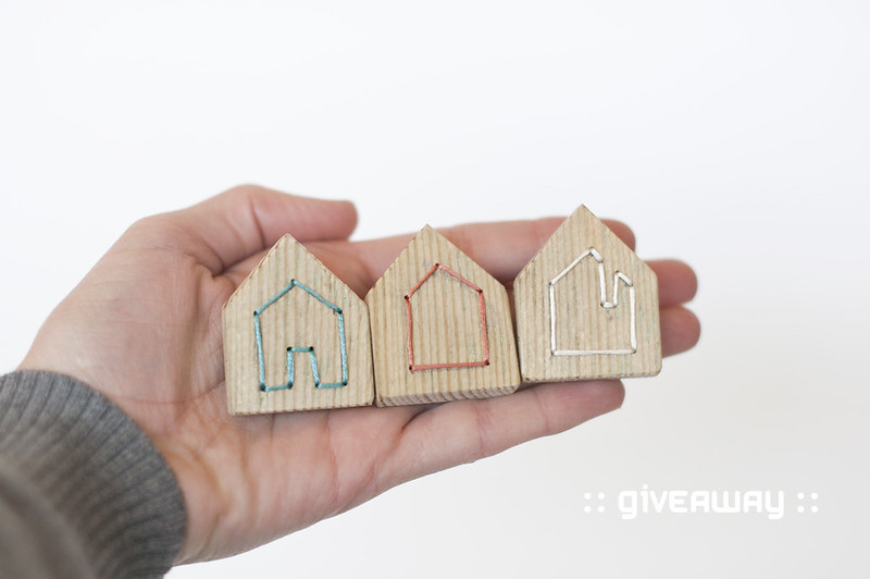 wooden house brooch giveaway 1
