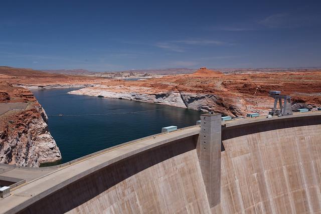 Glen Canyon Dam at Carl Hayden Visitor Center