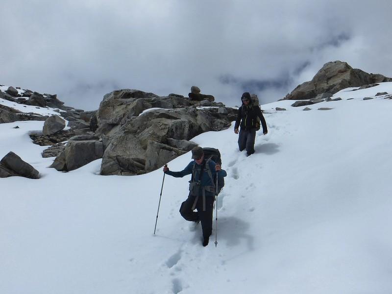 Crossing Paso Huapi (5080m)