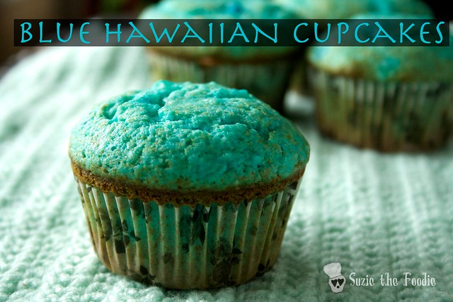 Blue Hawaiian Cupcakes